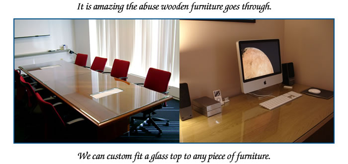 The Addition Of A Glass Top Can Protect Your Furniture From Scratches,  Nicks And Stains.